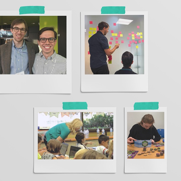 A collection of four images of Quill employees